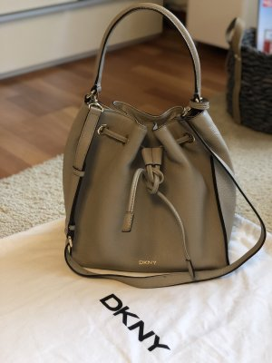 DKNY Pouch Bag grey brown-gold-colored