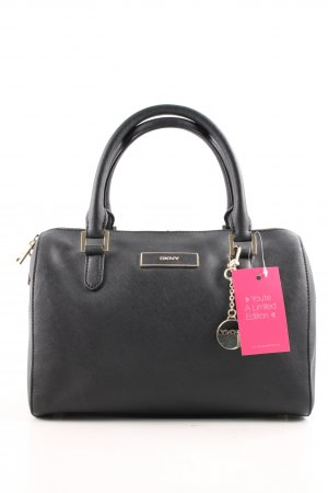DKNY Bowling Bag black-gold-colored business style