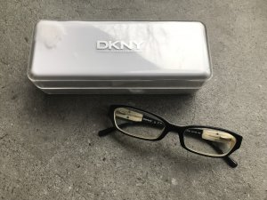 DKNY Glasses white-black synthetic material