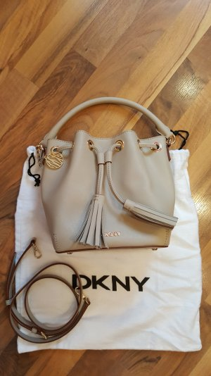 DKNY Bryant Park Saffiano Bucket Bag in Cement