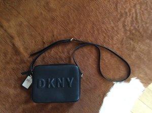 DKNY Borsa a spalla nero-oro Finta pelle