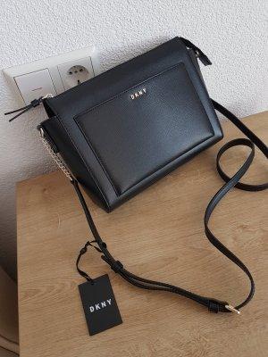 DKNY Chain Item Sutton Bryant Medium Box Tasche Umhängetasche Crossbody schwarz Neu