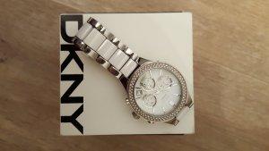 DKNY Chronograph Silber + Weiß