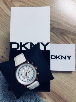 DKNY Chronograph Uhr Leder rotgold