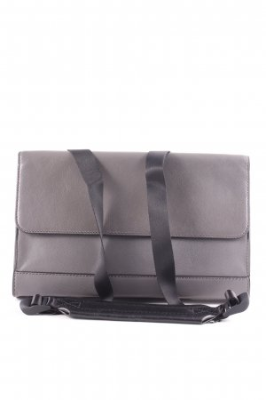 "DKNY Clutch ""Fanny Pack Leather Grey/Black"" dunkelgrau"