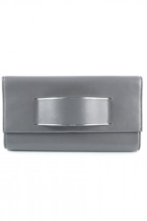 "DKNY Bolso de mano ""Runway Leather Clutch Grey"""
