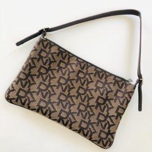 DKNY Clutch Tasche Donna Karan NY braun Handtasche