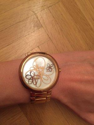 DKNY Damen Armbanduhr mit Perlmutt Ziffernblatt
