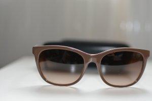 DKNY Oval Sunglasses bronze-colored acetate