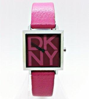 DKNY Damenuhr Leder Armband rosa Donna Karan New York Uhr Armbanduhr 31071