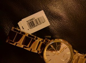 DKNY Orologio con cinturino di metallo giallo chiaro Acciaio pregiato