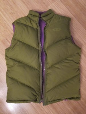 DKNY Reversible Vest dark violet-green grey synthetic material