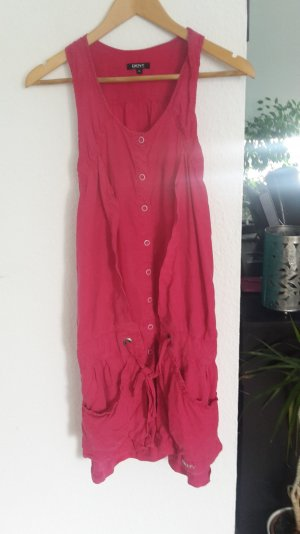 DKNY Donna Karan Blogger Kleid V-Neck Racer Back Rüschen Minikleid