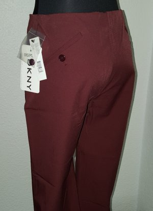 DKNY DONNA KARAN Business Stoffhose Größe 2 (D 34-36) Oxblood Bordeaux