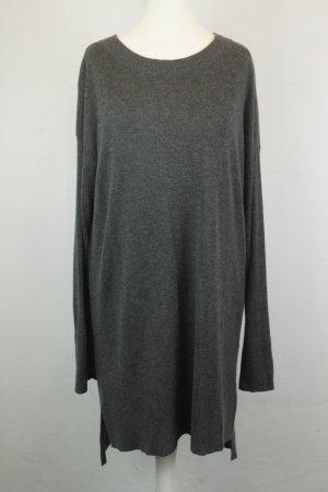 DKNY Donna Karan Kleid Strickkleid Gr. M grau Ellenbogen-Patches