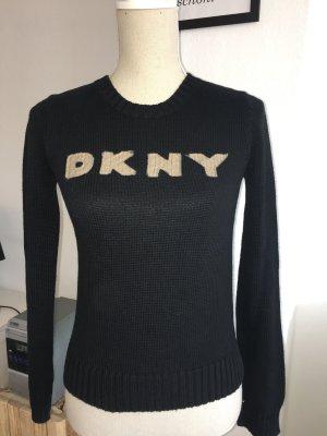 DKNY Donna Karan New York Pullover Strickpullover Pulli schwarz Gr. S XS 34 36
