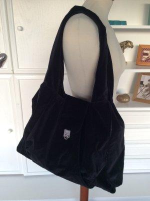 DKNY Donna Karan New York Shopper Tasche Samt Schwarz Handtasche