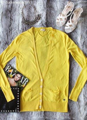 DKNY Donna Karan New York Strickjacke Pullover Luxury Designer Gelb XS/34