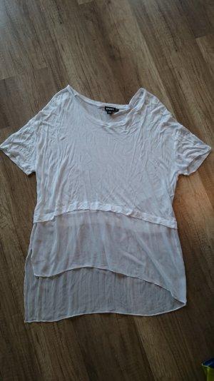 DKNY Donna Karan Shirt Bluse Blusenshirt Seide Modal Asymmetrisch S