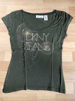 DKNY Donna Karan Shirt Gr. S / 36 khaki grün w neu