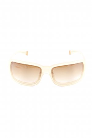 DKNY Angular Shaped Sunglasses gold orange casual look
