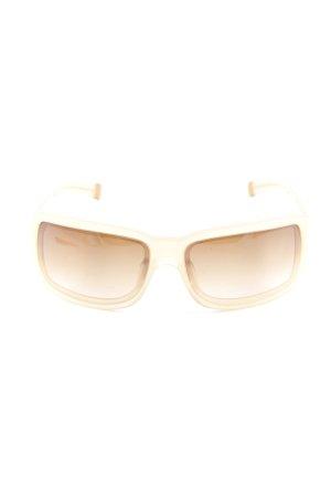 DKNY Hoekige zonnebril goud Oranje casual uitstraling