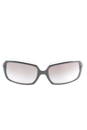 DKNY Occhiale da sole spigoloso nero-grigio chiaro stile casual