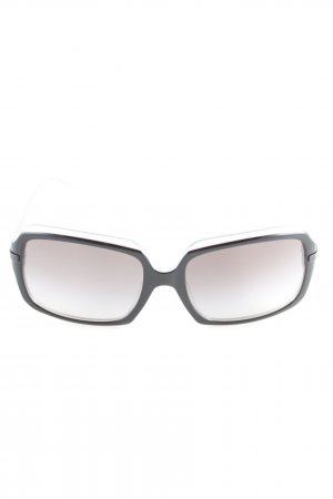 DKNY eckige Sonnenbrille schwarz-hellgrau Casual-Look