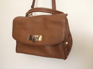 DKNY Flap Bag Chelsea braun Cognac Satchel Tasche Handtasche