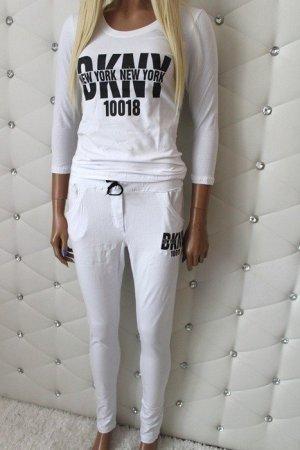 DKNY Twin Set tipo suéter blanco-negro tejido mezclado