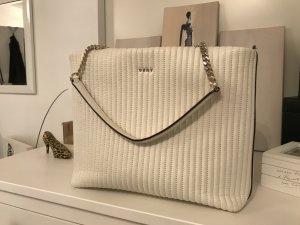 DKNY Gansevoort Pinstripe Handtasche weiß