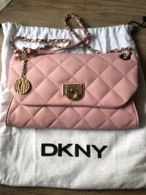 DKNY Gansevoort Quilted Nappa Clutch Pink