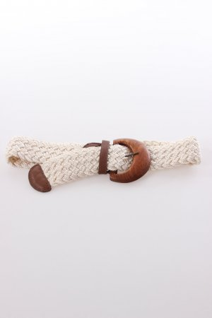 DKNY Waist Belt cream-brown silk