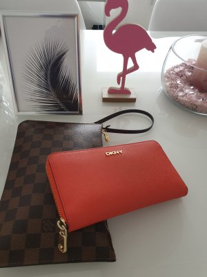 DKNY Geldbeutel orange/gold Echtleder