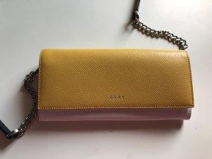 DKNY Geldbörse Clutch Schultertasche Umhängetasche Gelb/Weiß