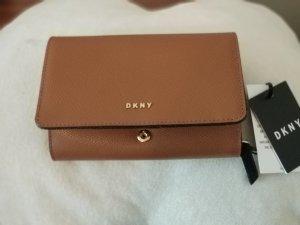 DKNY Portefeuille cognac-noir cuir