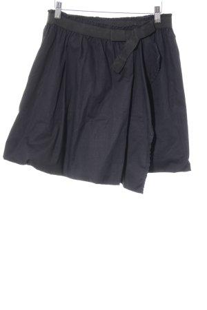 DKNY Falda acampanada negro-azul oscuro look casual