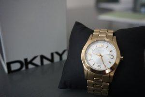 DKNY goldfarbene Uhr