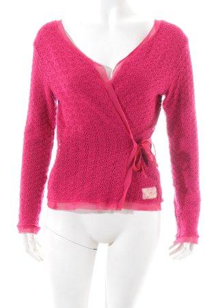 DKNY Häkel Cardigan pink Casual-Look