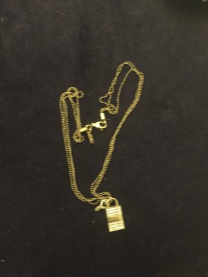 DKNY Halskette Gold mit Schloss & Schlüssel