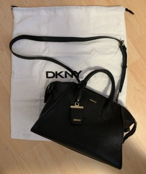 DKNY Carry Bag black-sand brown leather
