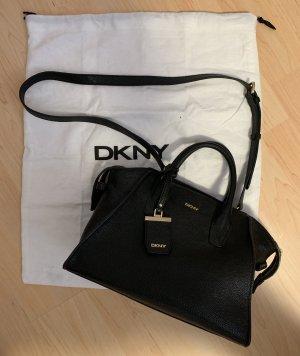 DKNY Bolso barrel negro-marrón arena Cuero