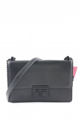 "DKNY Handtasche ""Ann MD Flap Crossbody Bag Black/Black"" schwarz"