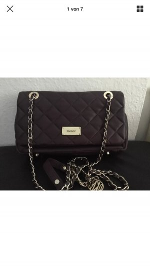DKNY Crossbody bag blackberry-red-purple leather