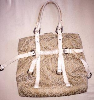 DKNY Handtasche in beige weiß