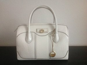 DKNY Bowling Bag white leather