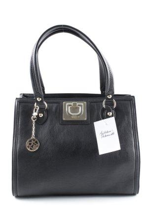 DKNY Handtasche schwarz-goldfarben schlichter Stil