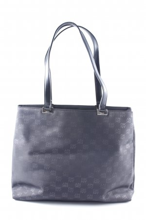 DKNY Handtasche schwarz-grau Schriftzug gedruckt klassischer Stil