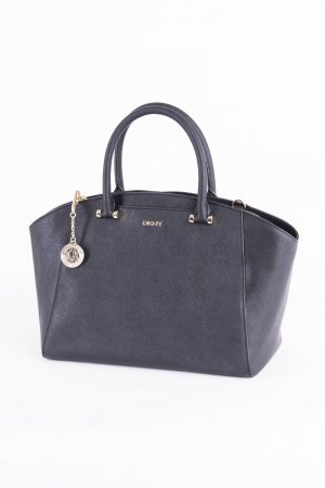 DKNY Handbag black-gold-colored leather