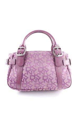 DKNY Handtasche violett-altrosa Schriftzug gestickt Casual-Look